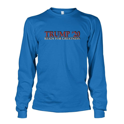 Image of Trump Greatness 2020 Long Sleeve - Sapphire / S - Long Sleeves