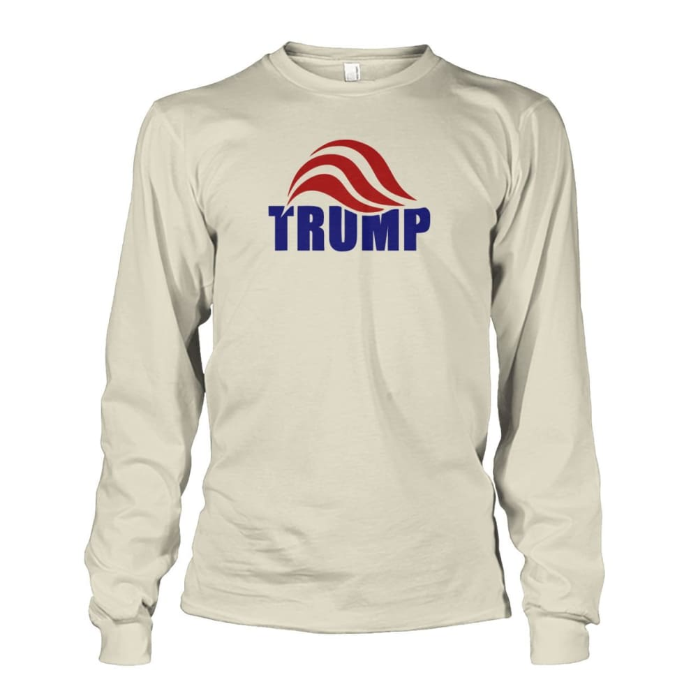 Trump Long Sleeve - Natural / S / Unisex Long Sleeve - Long Sleeves