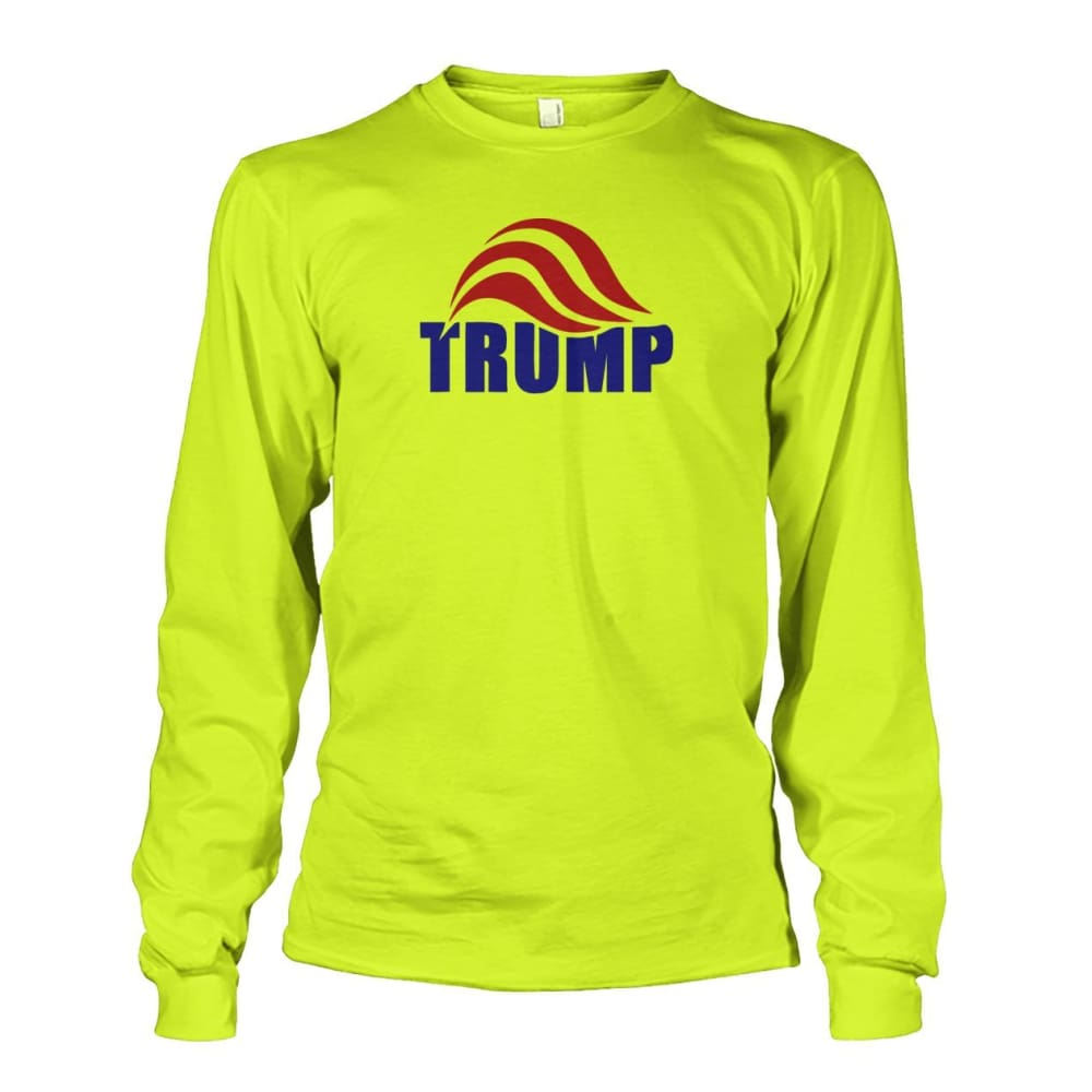 Trump Long Sleeve - Safety Green / S / Unisex Long Sleeve - Long Sleeves