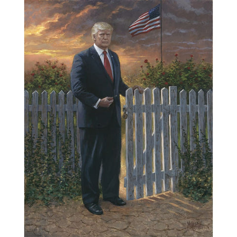 Trump Make America Safe - Litho Print Of Original Painting (Different Sizes) (No Frame)