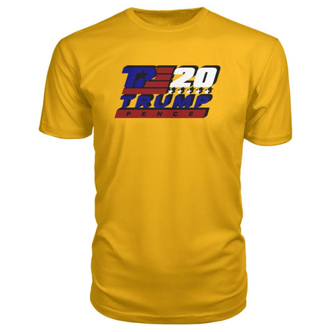 Image of Trump Pence 2020 Premium Tee - Gold / S - Short Sleeves