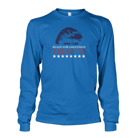 Image of Trump Ready For Greatness Long Sleeve - Sapphire / S - Long Sleeves