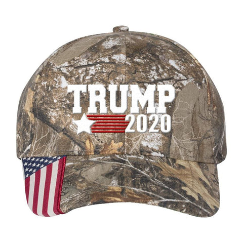 Image of Trump Star 2020 Camo Hat - Realtree Edge