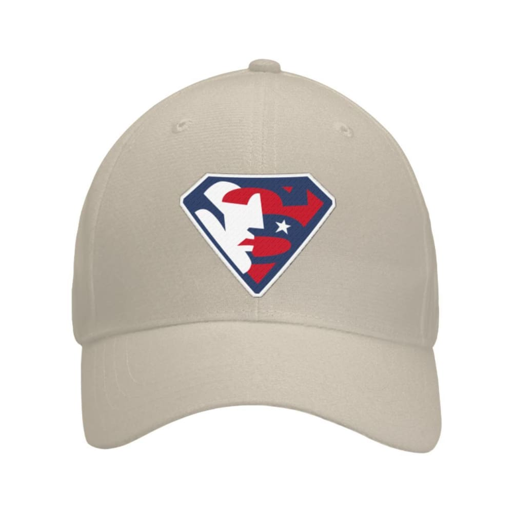 Trump Superman Hat - Khaki / OS / Curved Bill Velcro Strap - Hats