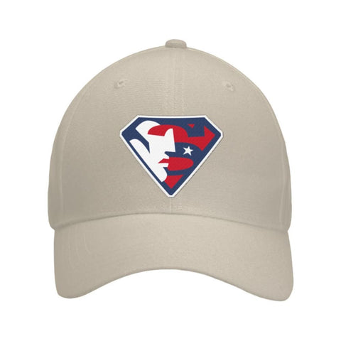 Image of Trump Superman Hat - Khaki / OS / Curved Bill Velcro Strap - Hats
