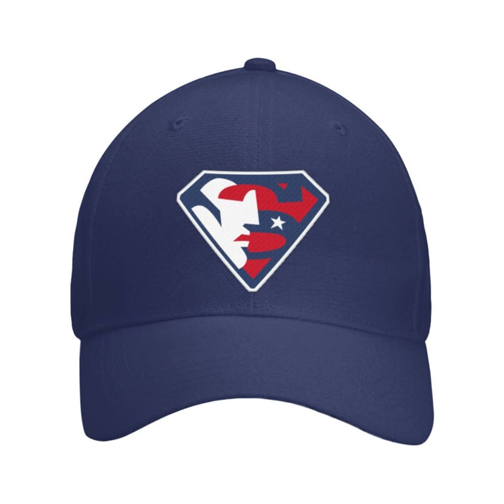 Trump Superman Hat - Navy / OS / Curved Bill Velcro Strap - Hats