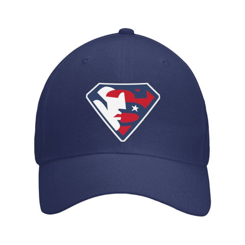 Image of Trump Superman Hat - Navy / OS / Curved Bill Velcro Strap - Hats