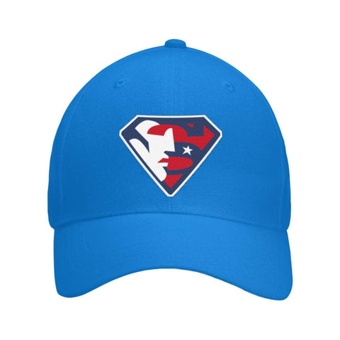 Image of Trump Superman Hat - Royal / OS / Curved Bill Velcro Strap - Hats