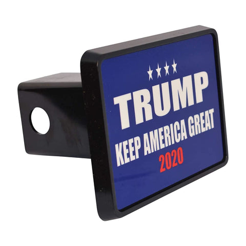 Image of Trump Trailer Hitch Covers (Multiple Options)(Made In The USA!) - Blue Keep America Great