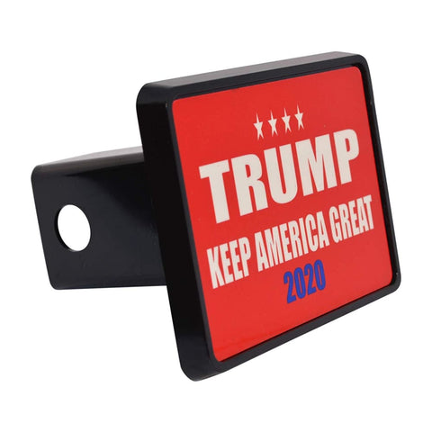 Image of Trump Trailer Hitch Covers (Multiple Options)(Made In The USA!) - Red Keep America Great