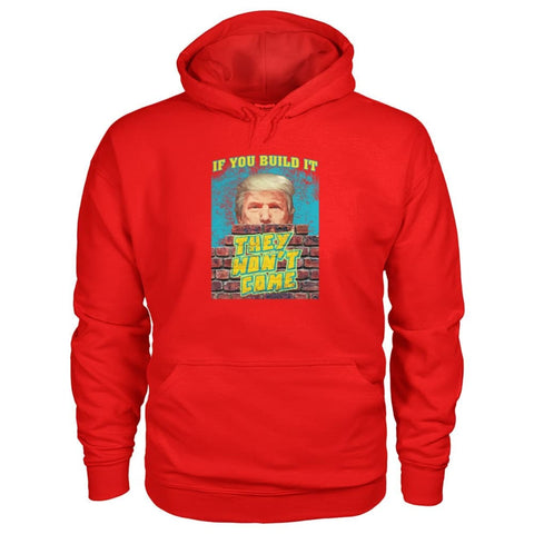 Image of Trump Wall Hoodie - Red / S - Hoodies