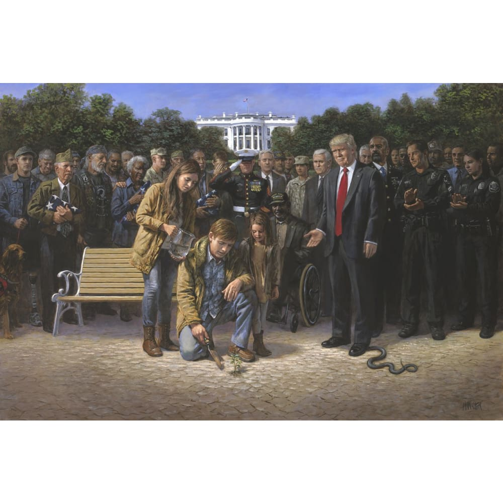Trump You Are Not Forgotten - Litho Print Of Original Painting (No Frame)