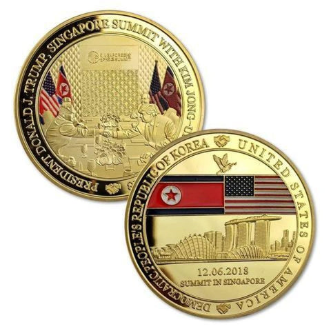 Image of Trump/Kim NK Summit Collection - Pack Of 3 Unique Coins - Coin
