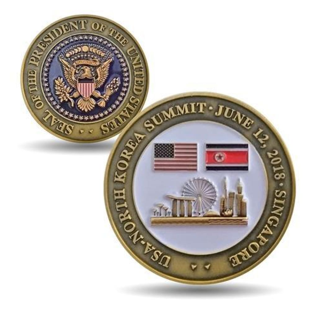 Trump/Kim NK Summit Collection - Pack Of 3 Unique Coins - Coin