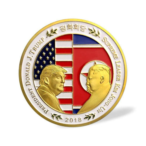 Image of Trump/Kim Summit Coin (Design 1) - Coin