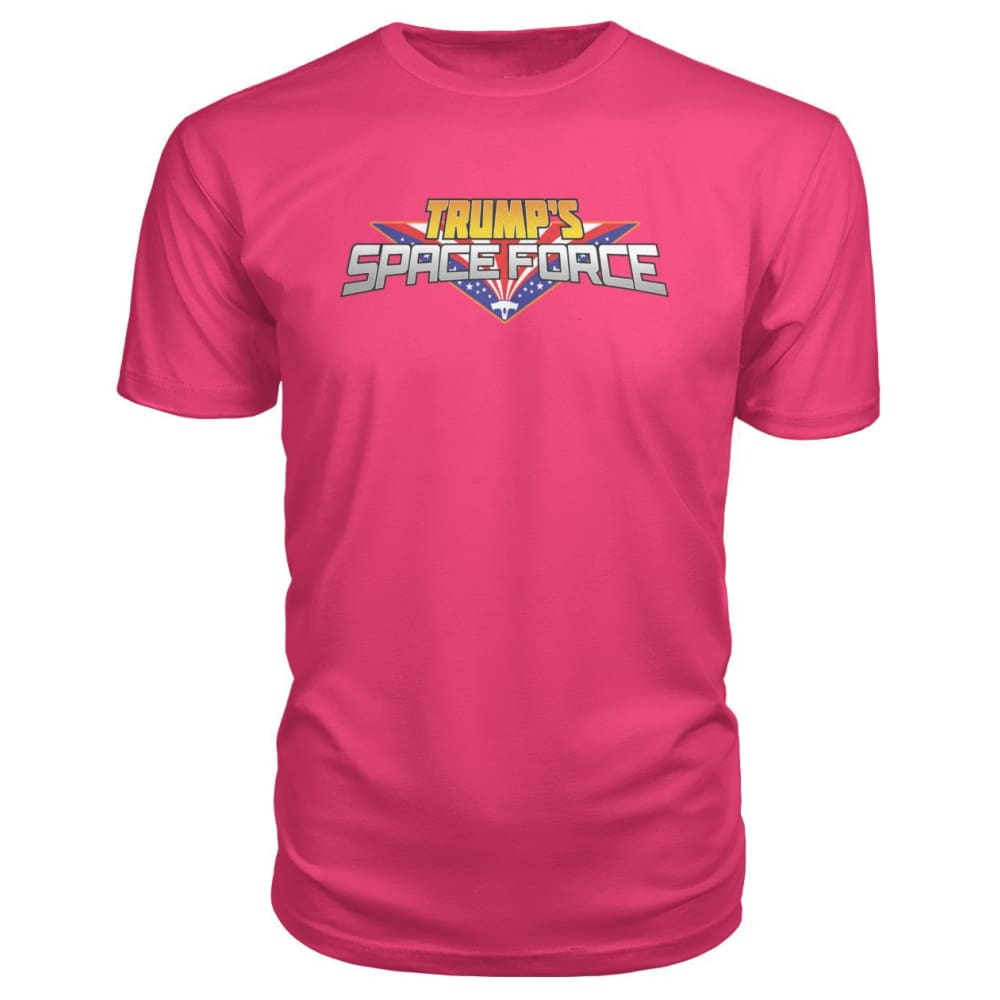 Trumps Space Force Premium Tee - Hot Pink / S - Short Sleeves
