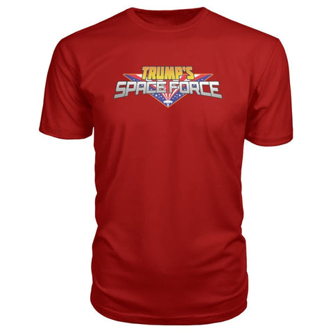 Image of Trumps Space Force Premium Tee - Red / S - Short Sleeves