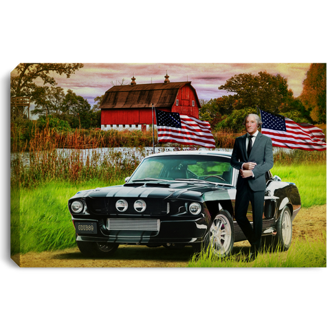 America Mustang Landscape Canvas