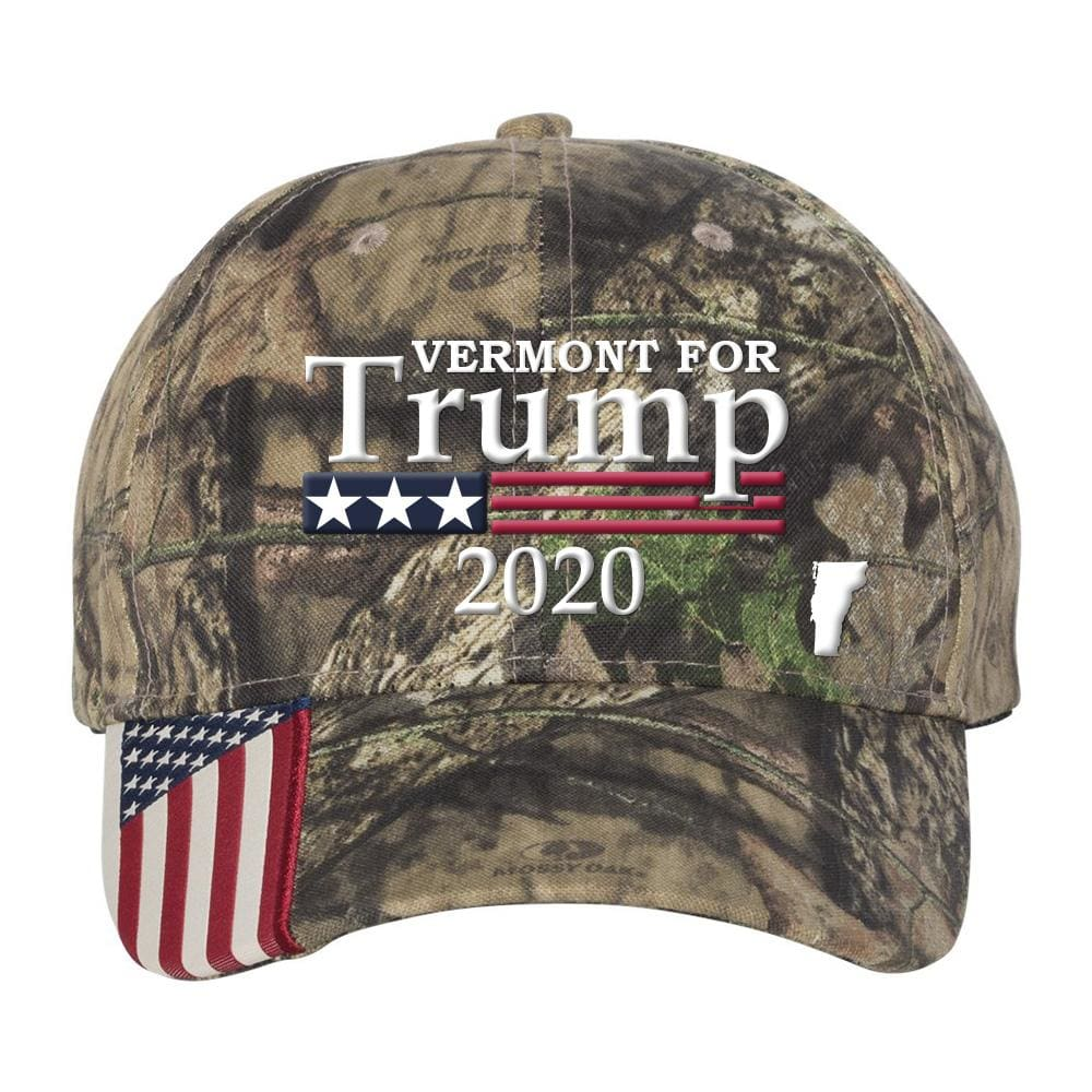 Vermont For Trump 2020 Hat - Mossy Oak Country