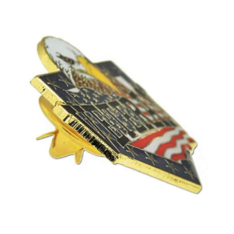 Veteran American Flag Eagle Patriotic Enamel Lapel Pin