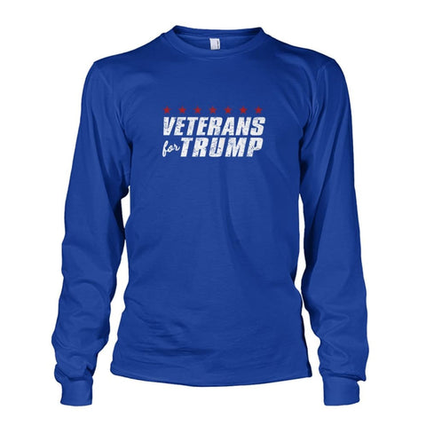Image of Veterans For Trump Long Sleeve - Royal / S / Unisex Long Sleeve - Long Sleeves