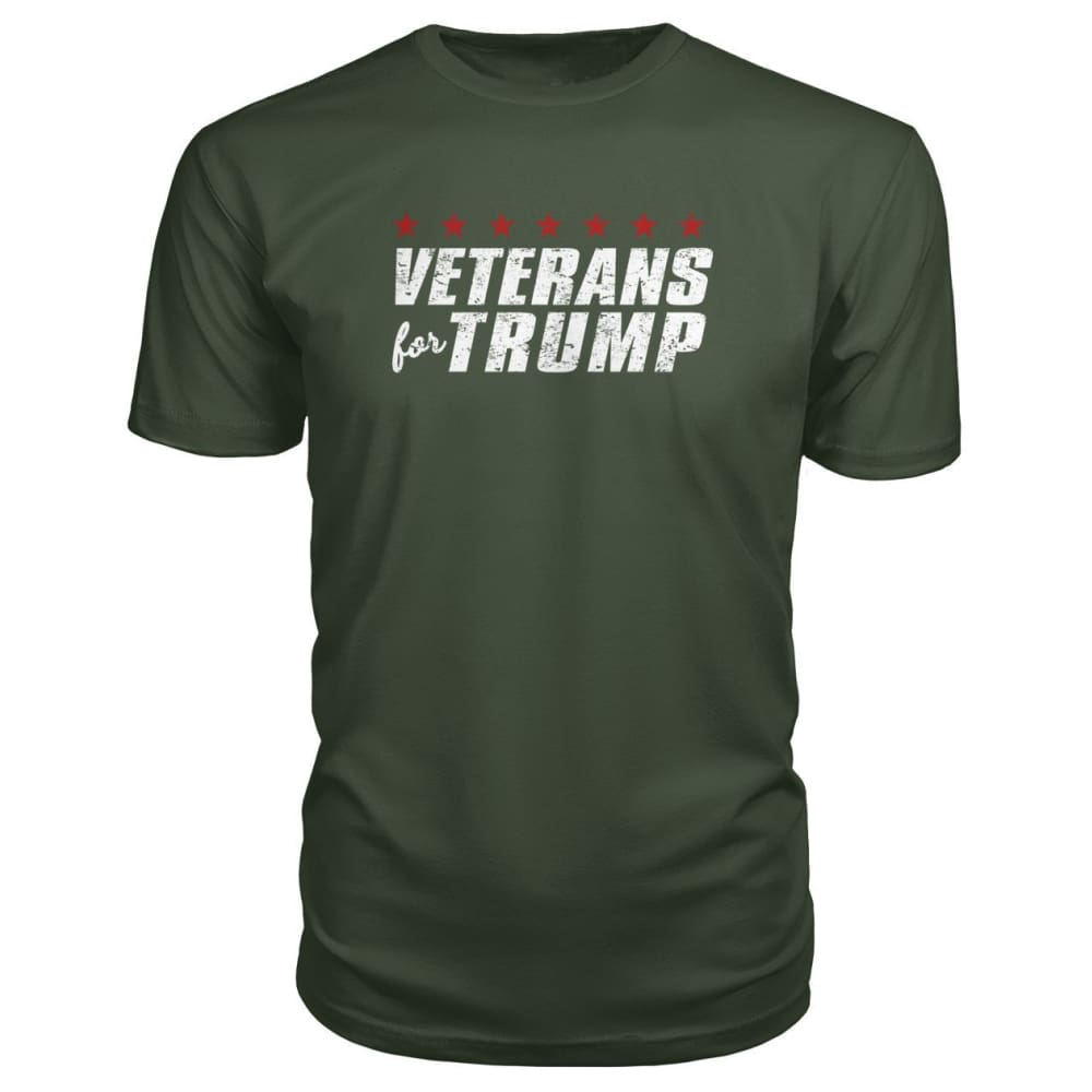 Veterans For Trump Premium Tee - City Green / S / Premium Unisex Tee - Short Sleeves