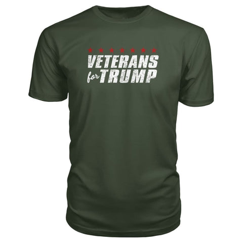 Image of Veterans For Trump Premium Tee - City Green / S / Premium Unisex Tee - Short Sleeves
