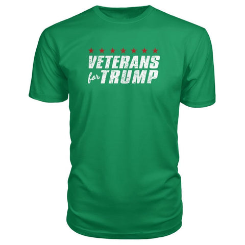 Image of Veterans For Trump Premium Tee - Green Apple / S / Premium Unisex Tee - Short Sleeves