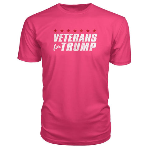 Image of Veterans For Trump Premium Tee - Hot Pink / S / Premium Unisex Tee - Short Sleeves