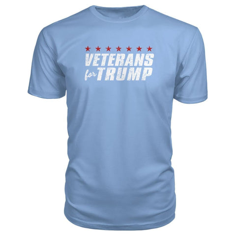 Image of Veterans For Trump Premium Tee - Light Blue / S / Premium Unisex Tee - Short Sleeves