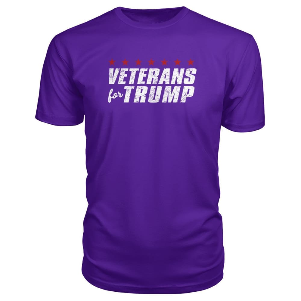Veterans For Trump Premium Tee - Purple / S / Premium Unisex Tee - Short Sleeves