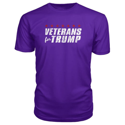 Image of Veterans For Trump Premium Tee - Purple / S / Premium Unisex Tee - Short Sleeves