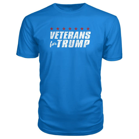 Image of Veterans For Trump Premium Tee - Royal Blue / S / Premium Unisex Tee - Short Sleeves