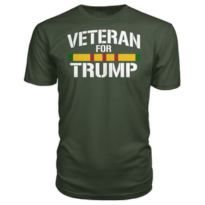 Vietnam Veteran For Trump - City Green / S / Premium Unisex Tee - Short Sleeves