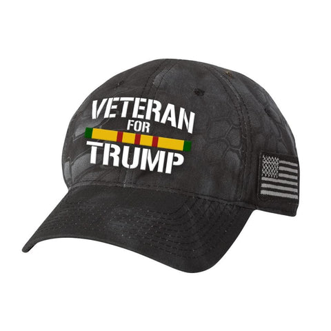 Vietnam Veteran For Trump Kryptek Hat - Typhoon - Hats