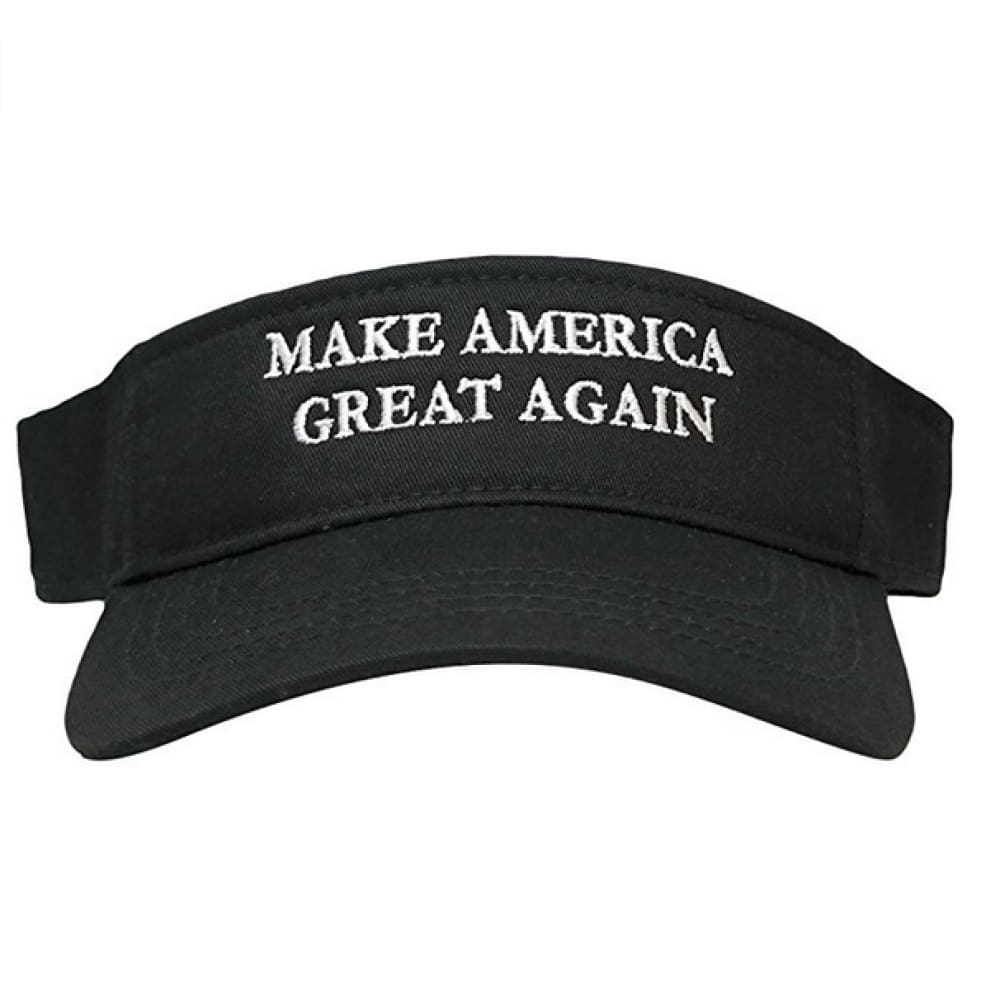 Visors: Make America Great Again - Choice Of Color - Black With White Text - Headwear