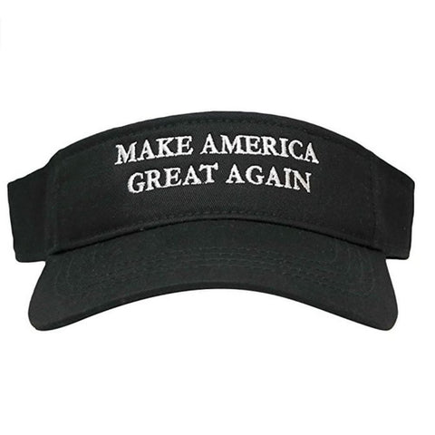 Image of Visors: Make America Great Again - Choice Of Color - Black With White Text - Headwear