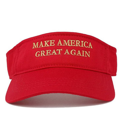 Image of Visors: Make America Great Again - Choice Of Color - Red With Gold Text - Headwear