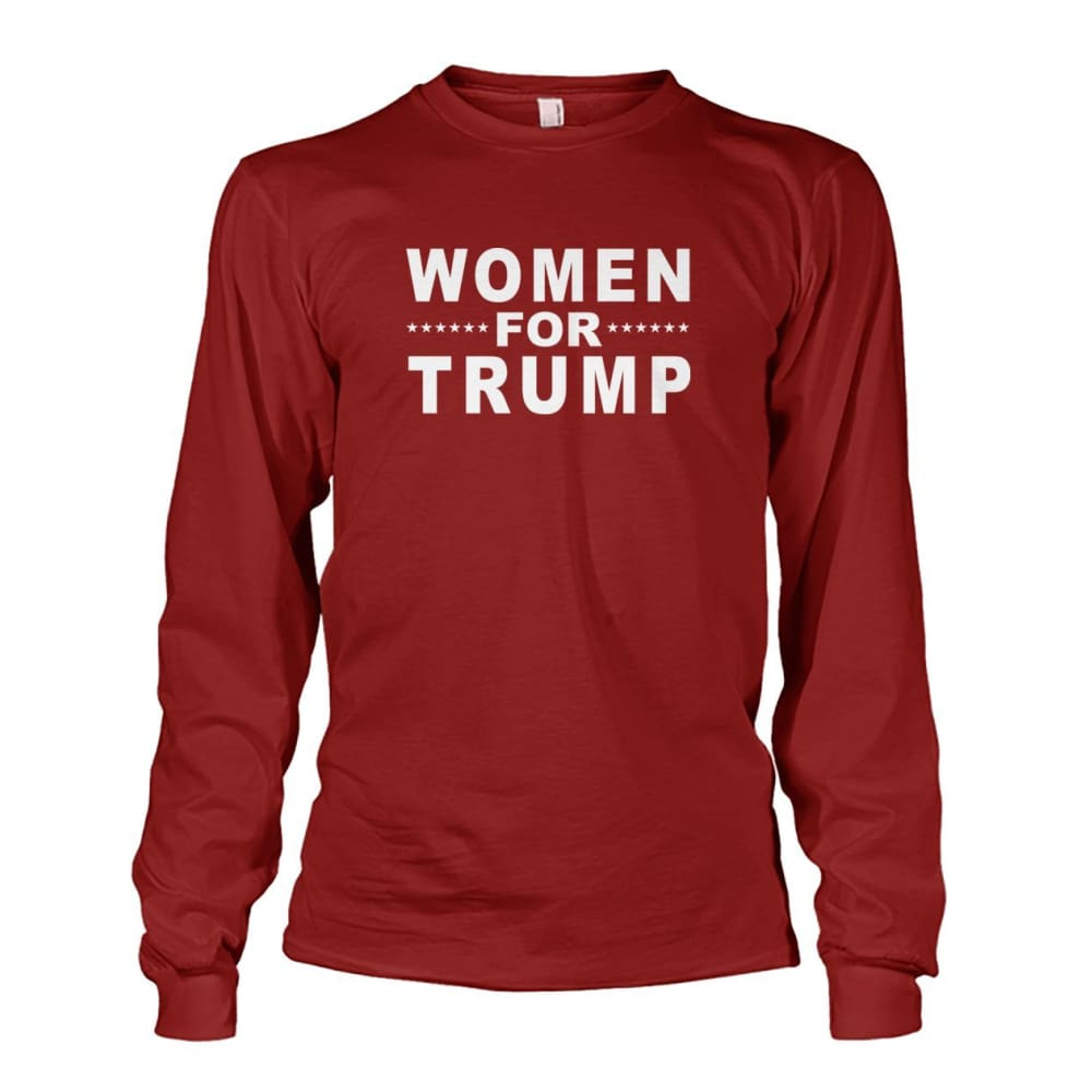 Women For Trump Long Sleeve - Cardinal Red / S / Unisex Long Sleeve - Long Sleeves
