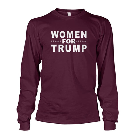 Image of Women For Trump Long Sleeve - Maroon / S / Unisex Long Sleeve - Long Sleeves