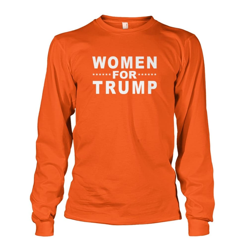 Women For Trump Long Sleeve - Orange / S / Unisex Long Sleeve - Long Sleeves