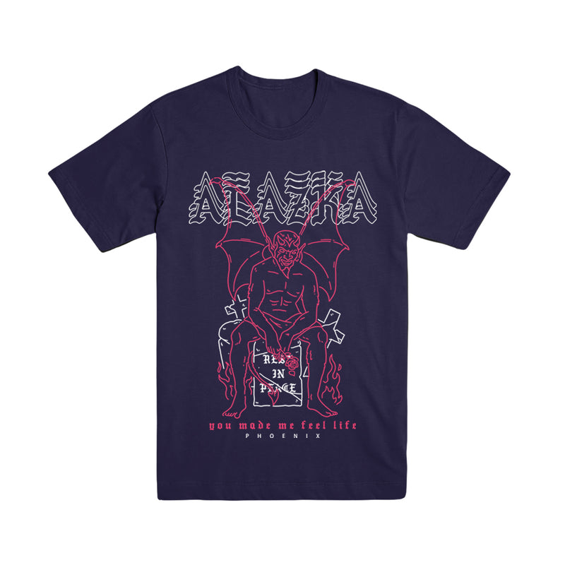 Alazka - Feel Life Navy Tee