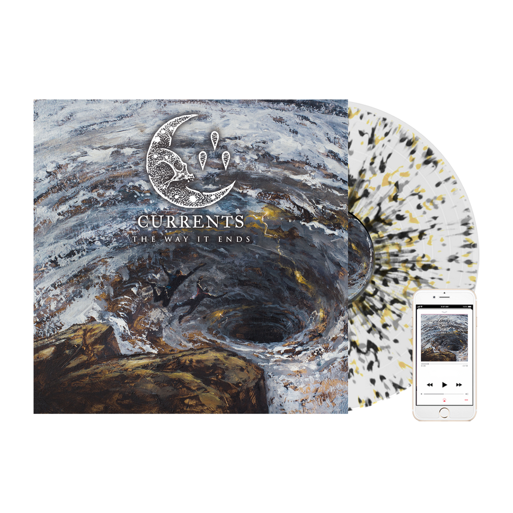 Currents - 'The Way It Ends' Milky Clear w/Black, Yellow, & Grey Splatter Vinyl Pre-Order Bundle