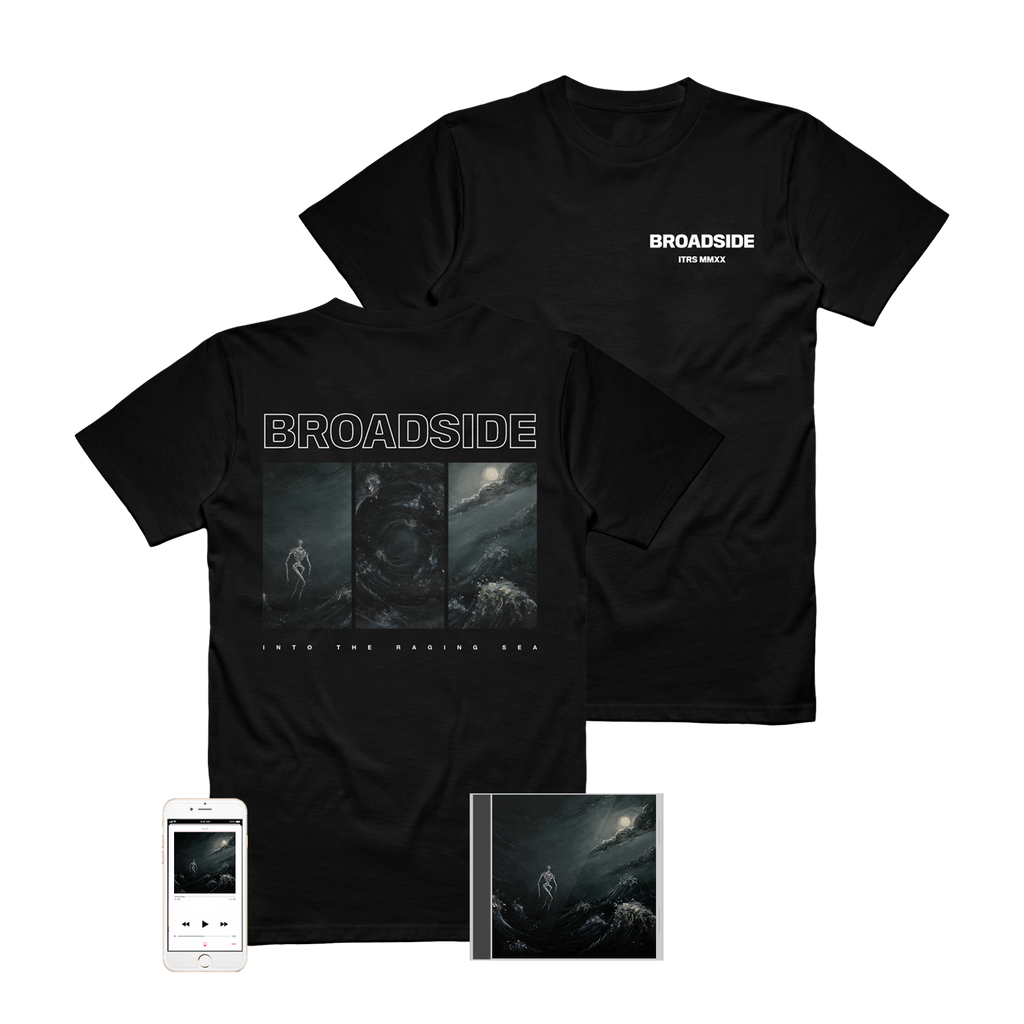 Broadside - 'Into The Raging Sea' Album Art Tee Pre-Order Bundle
