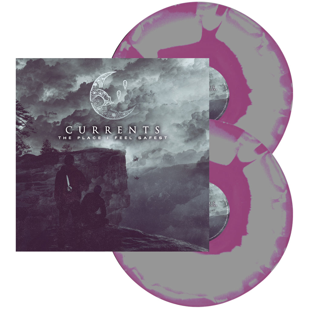 Currents - 'The Place I Feel Safest' Purple/Grey Swirl Dye Vinyl