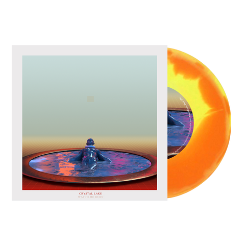 "Crystal Lake - 'Watch Me Burn' Orange/Yellow A/B 7"" Vinyl"