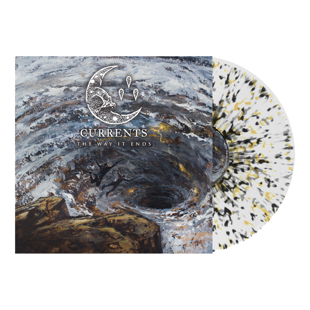 Currents - 'The Way It Ends' Milky Clear w/Black, Yellow, & Grey Splatter Vinyl