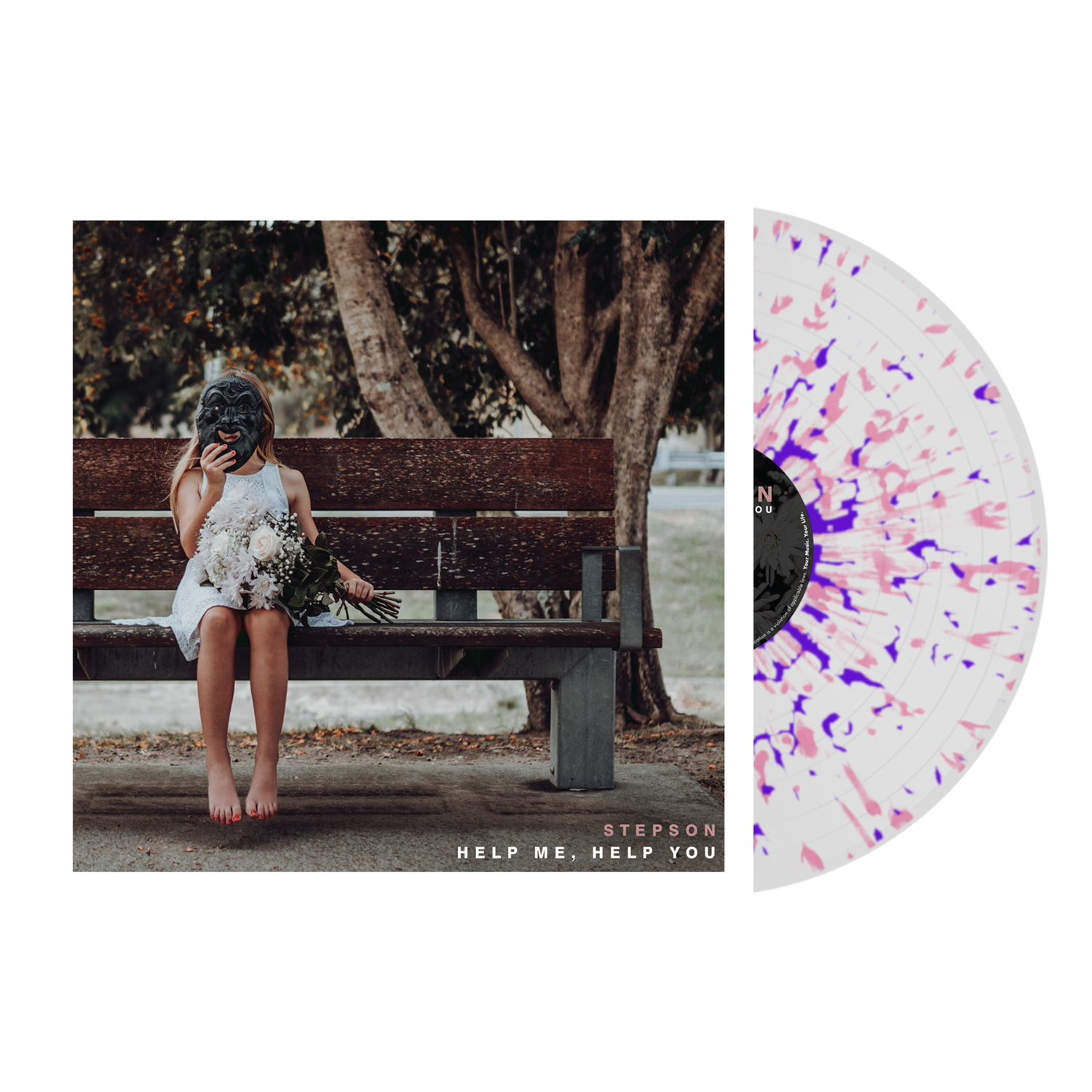 Stepson - 'Help Me, Help You' Clear w/ Baby Pink/Purple Splatter Vinyl Pre-Order