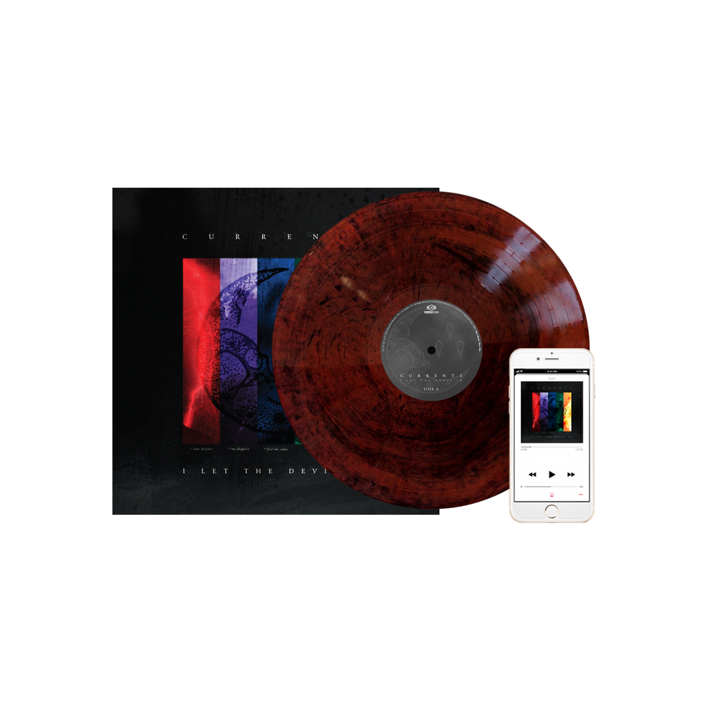 Currents - 'I Let The Devil In' Red with Black Swirl Splatter Vinyl