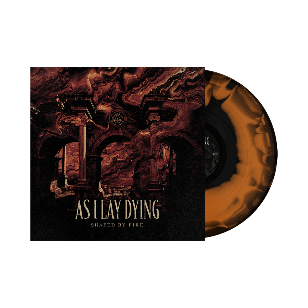 As I Lay Dying - 'Shaped By Fire' Orange w/Black Swirl Vinyl